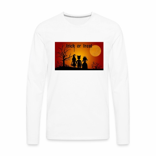 Wallpaper trick or treat Happy Halloween hd - Men's Premium Long Sleeve T-Shirt