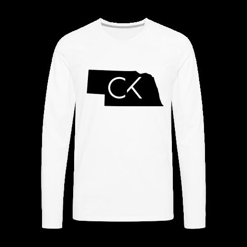 State of Nebraska Conor Keating Logo (White) - Men's Premium Long Sleeve T-Shirt