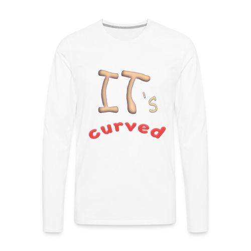 Curved - Men's Premium Long Sleeve T-Shirt
