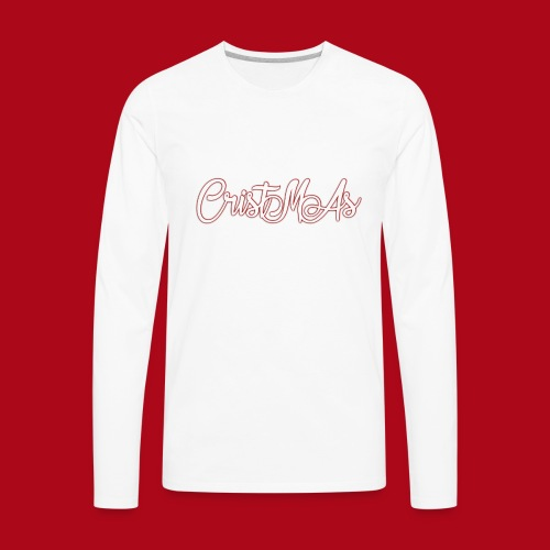 Christmas TEXT - Men's Premium Long Sleeve T-Shirt