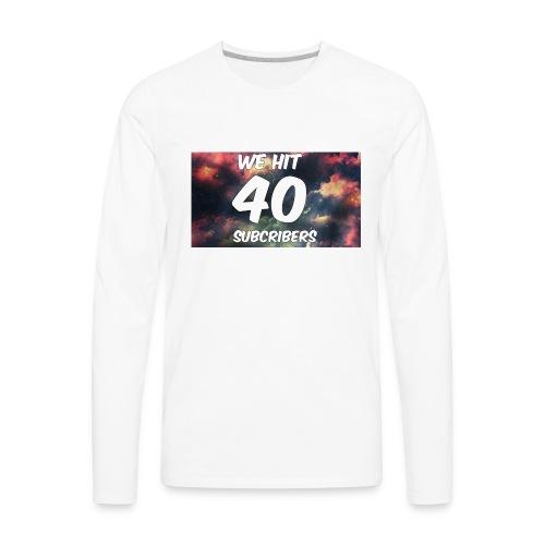 Lankydiscmaster's 40 subs shirt and more - Men's Premium Long Sleeve T-Shirt