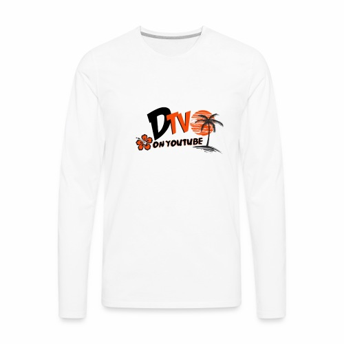 DTV VLOG Title California Logo on youtube - Men's Premium Long Sleeve T-Shirt