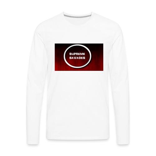 Black Red Grunge Texture - Men's Premium Long Sleeve T-Shirt
