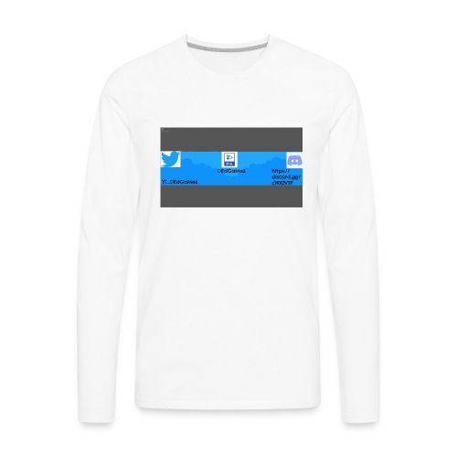 Channel Banner - Men's Premium Long Sleeve T-Shirt