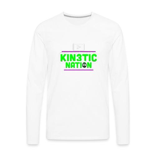 Green Kin3ticNation logo - Men's Premium Long Sleeve T-Shirt