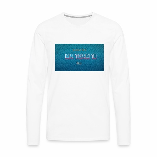 My ma team 10 logo - Men's Premium Long Sleeve T-Shirt