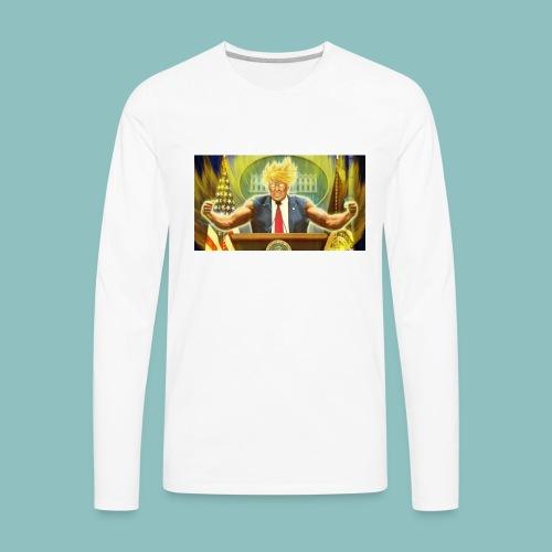 Donald Trump goes Super Saiyan - Men's Premium Long Sleeve T-Shirt
