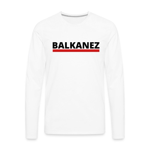 BALKANEZ BLACK - Men's Premium Long Sleeve T-Shirt