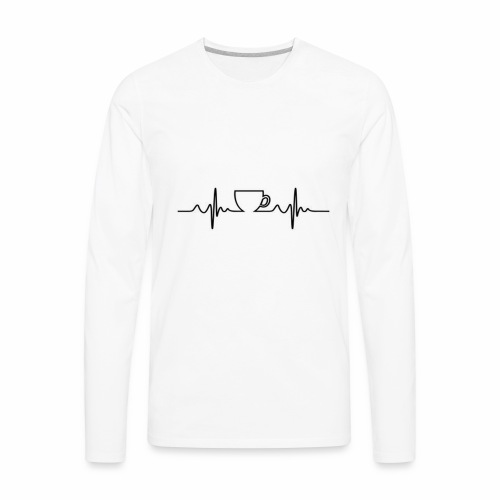 Coffee Beat - Men's Premium Long Sleeve T-Shirt
