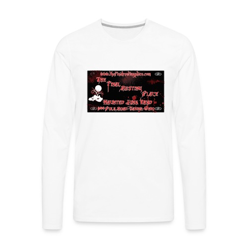 The_Final_Resting_Place_Logo_Address - Men's Premium Long Sleeve T-Shirt
