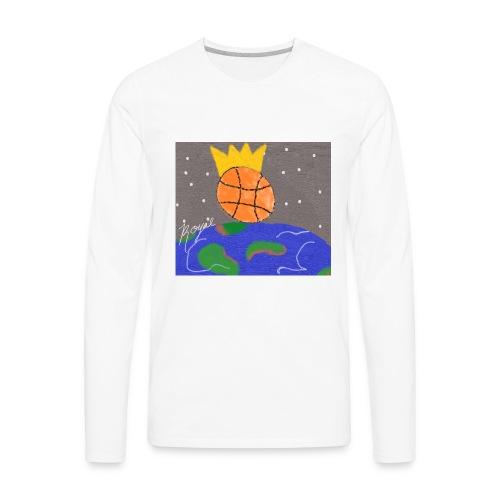 royal baller in space - Men's Premium Long Sleeve T-Shirt