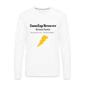 ZunoZap Merch (2nt design) - Men's Premium Long Sleeve T-Shirt