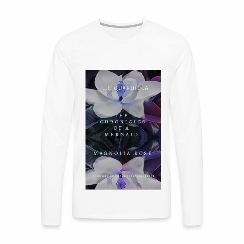 Magnolia Rose Book Cover - Men's Premium Long Sleeve T-Shirt