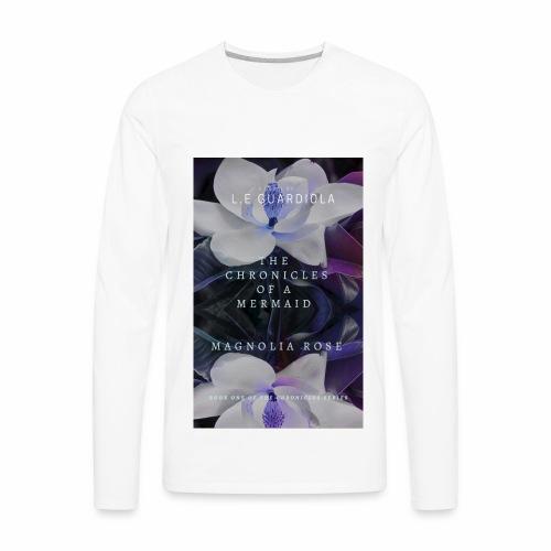 Magnolia Rose Book Cover - Men's Premium Long Sleeve T-Shirt