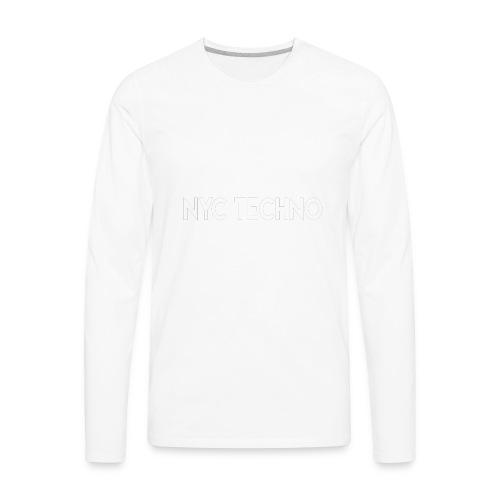 NYC Techno Skyline - Men's Premium Long Sleeve T-Shirt