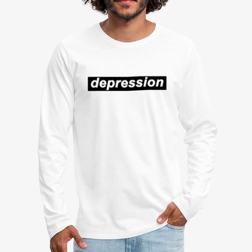 depression - Men's Premium Long Sleeve T-Shirt