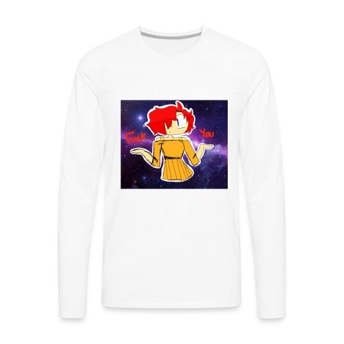 Fuck you galaxy girl - Men's Premium Long Sleeve T-Shirt
