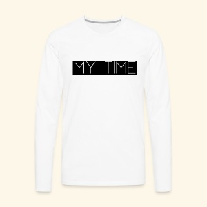 My Time Black Logo - Men's Premium Long Sleeve T-Shirt