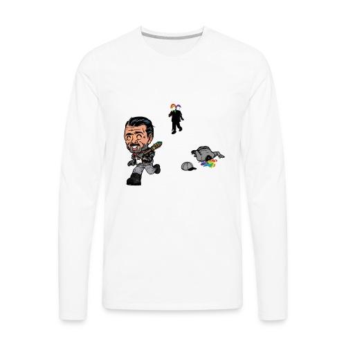 Negan Spreading Rainbow - Men's Premium Long Sleeve T-Shirt
