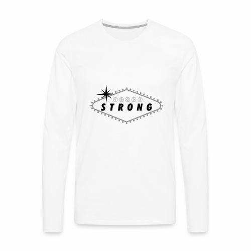 Vegas Strong Sign (grey) - Men's Premium Long Sleeve T-Shirt