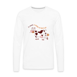 On Saturday hapiness is in the field - Men's Premium Long Sleeve T-Shirt