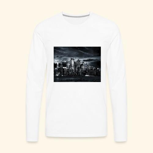 black logo 3 - Men's Premium Long Sleeve T-Shirt