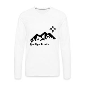 Live New Mexico logo - Men's Premium Long Sleeve T-Shirt