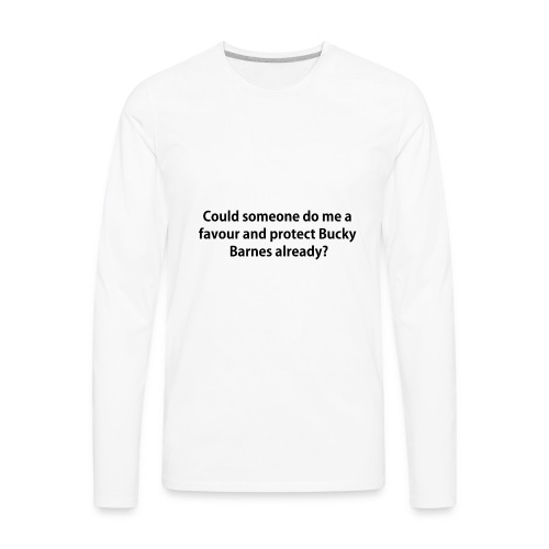 Protect Bucky iPhone 5s Case - Men's Premium Long Sleeve T-Shirt