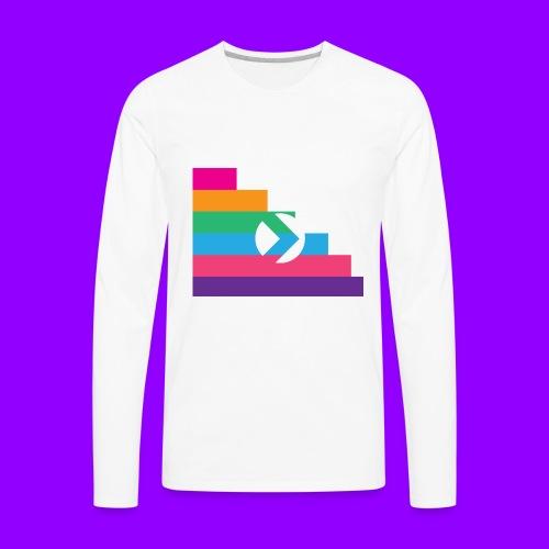 Yibizen Lined Logo Design - Men's Premium Long Sleeve T-Shirt