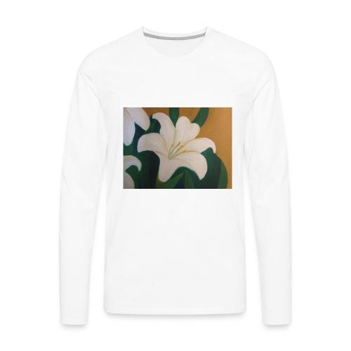 Single Flower - Men's Premium Long Sleeve T-Shirt