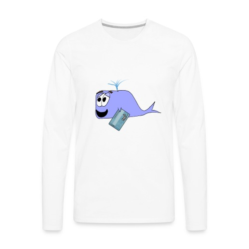 LA Metro TAP Whale 🚉 - Men's Premium Long Sleeve T-Shirt