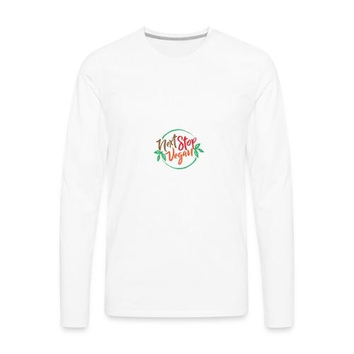 NextStopVegan01 2 - Men's Premium Long Sleeve T-Shirt