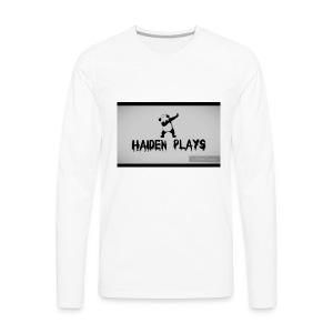 Haiden plays merch - Men's Premium Long Sleeve T-Shirt
