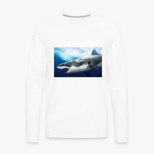 huge shark - Men's Premium Long Sleeve T-Shirt