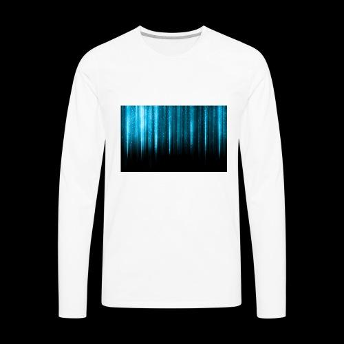Blue Wallpaper Colorful - Men's Premium Long Sleeve T-Shirt