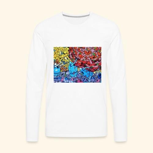 Graffiti Decal - Men's Premium Long Sleeve T-Shirt