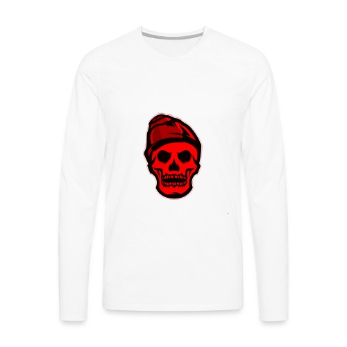 RED Skeleton HaHaHaHa - Men's Premium Long Sleeve T-Shirt