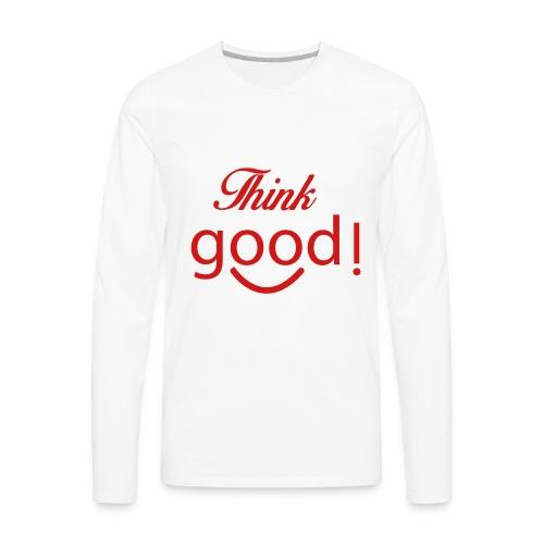 its a image about positivity. - Men's Premium Long Sleeve T-Shirt