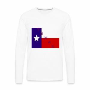 Texas Flag - Men's Premium Long Sleeve T-Shirt