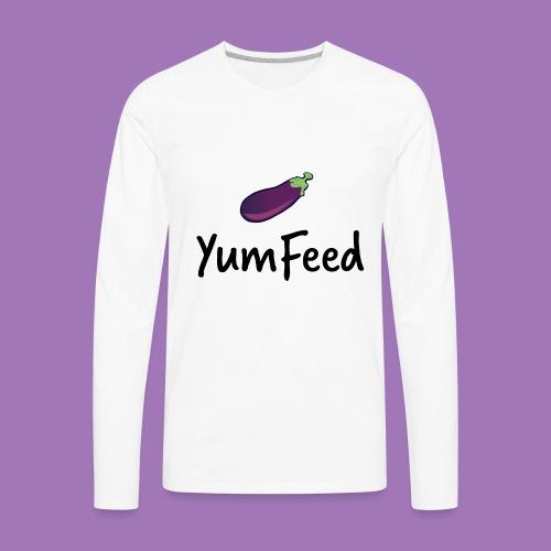 YumFeed logo - Men's Premium Long Sleeve T-Shirt