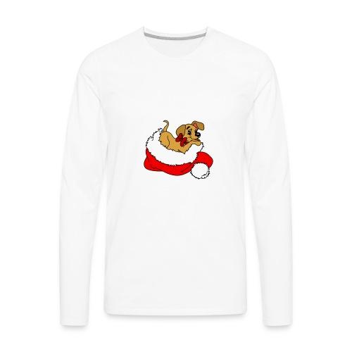 dog_xmas_color - Men's Premium Long Sleeve T-Shirt