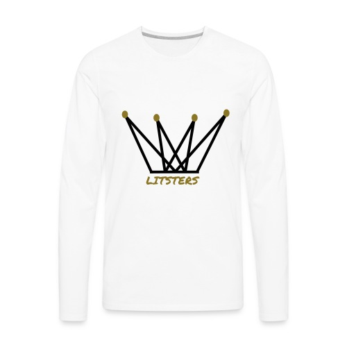 LITSTERS crown logo 1 - Men's Premium Long Sleeve T-Shirt