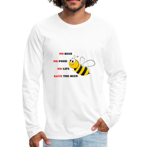 save the bees - Men's Premium Long Sleeve T-Shirt