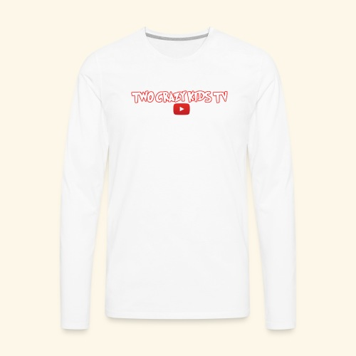 Crazy Kids Name with youtube Logo - Men's Premium Long Sleeve T-Shirt