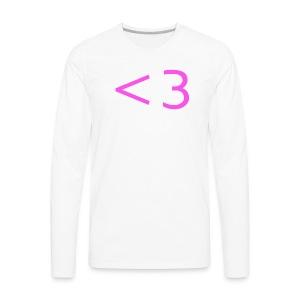 PINK HEART - Men's Premium Long Sleeve T-Shirt