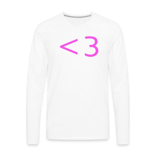 PINK HEART - Men's Premium Long Sleeve T-Shirt