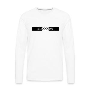 Stripe - XXX Logo T-shirts and Hoodies. - Men's Premium Long Sleeve T-Shirt