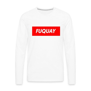 Fuquay Box Logo - Men's Premium Long Sleeve T-Shirt
