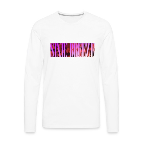 SIXIE CAMO HOT PINK - Men's Premium Long Sleeve T-Shirt