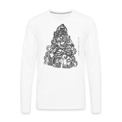 Obey Evernote - Men's Premium Long Sleeve T-Shirt